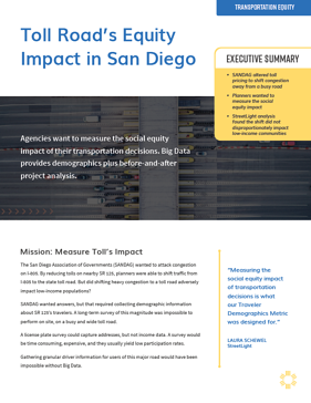Toll Road Equity Impact in San Diego Thumbnail