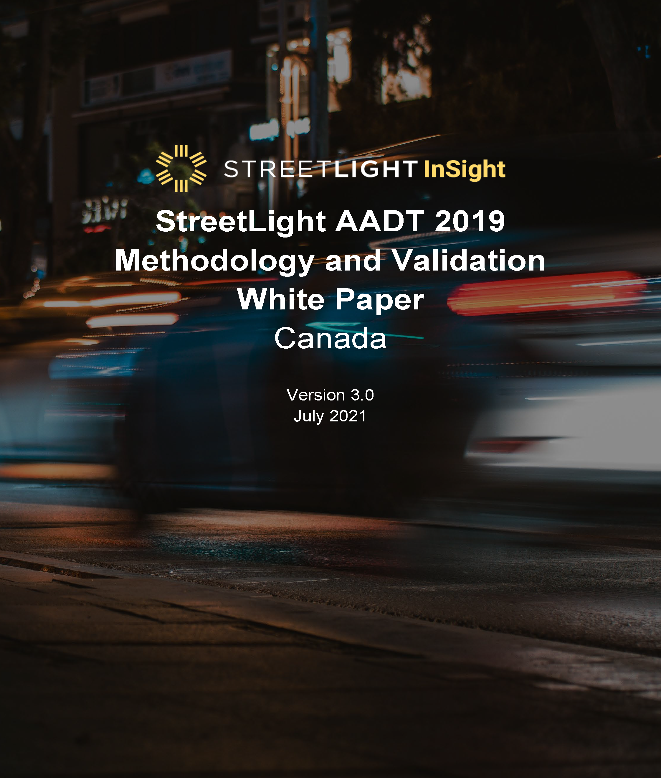 AADT 2019 Methodology and Validation White Paper Canada